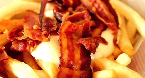 Fries, Bacon