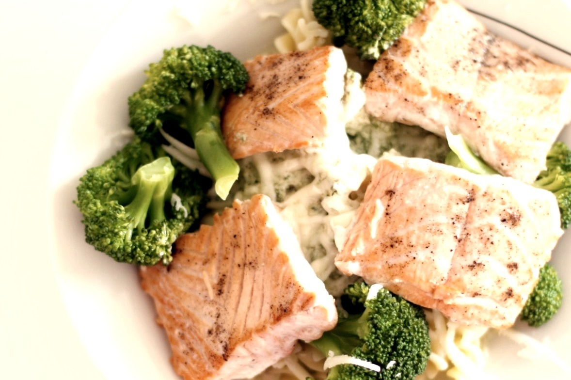 Salad, Salmon, Broccoli, Fish