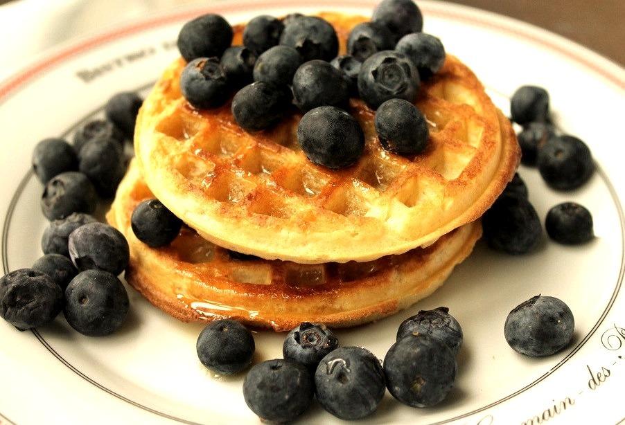 Waffles w/ Blueberries