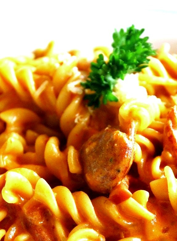 Fusilli with Spicy Tomato Sauce