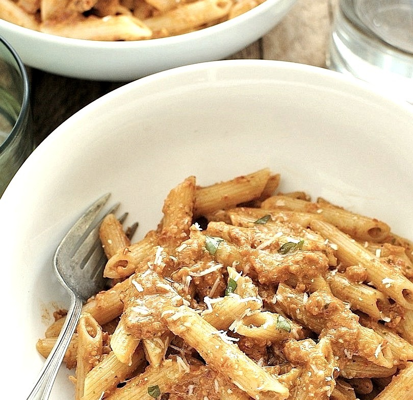 Recipe: Penne with Trapanese Pesto