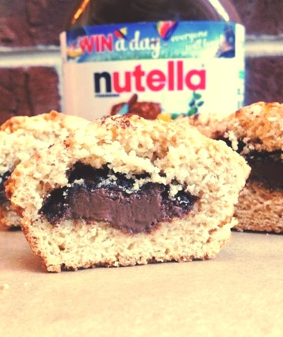 Gluten Free Nutella & Jam Filled MuffinsFind the recipe here!https://theginger-snap.blogspot.co.uk/2013/11/gluten-free-nutella-jam-filled-muffins.html