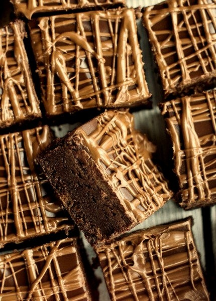 Milk Chocolate Peanut Butter Truffle Brownies