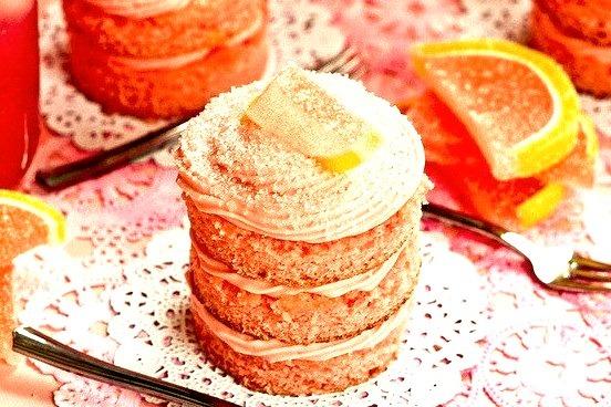 Pink Lemonade Mini Cakes