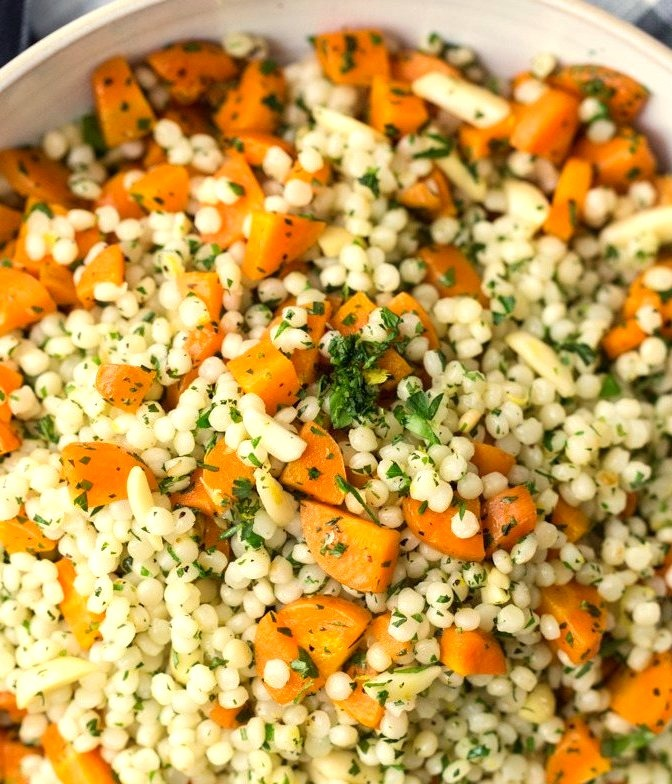 Roasted Carrots and Couscous with Gremolata