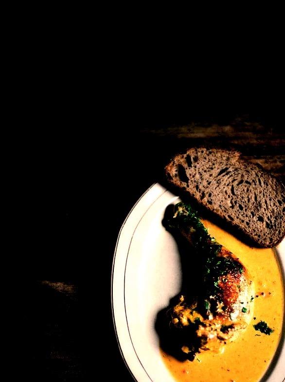 Saffron and Coriander Chicken Fricassee